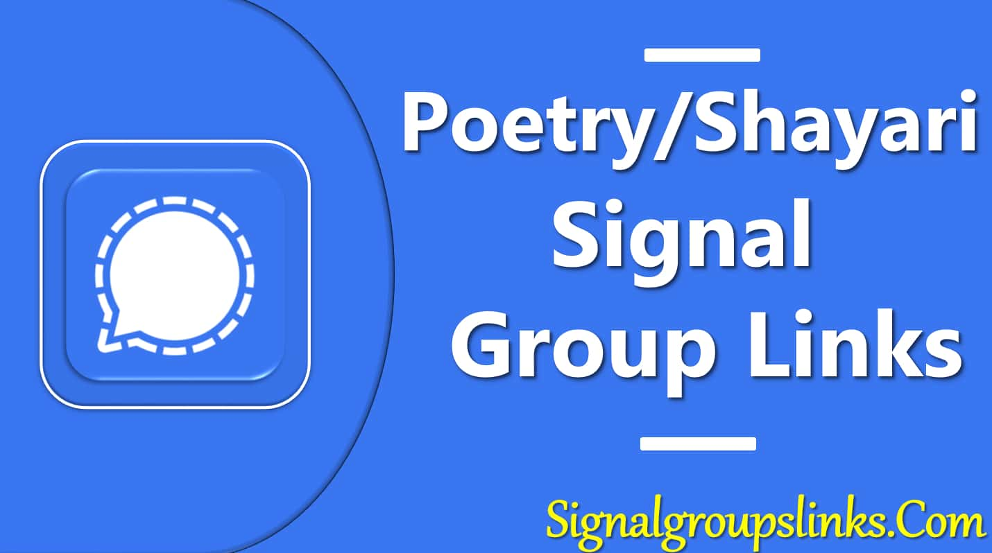 Poetry Signal Group Links